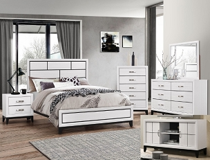 Akerson Bedroom Collection in White