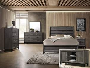 Akerson Bedroom Collection in Grey